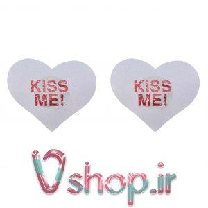 برچسبی قلب KISS ME