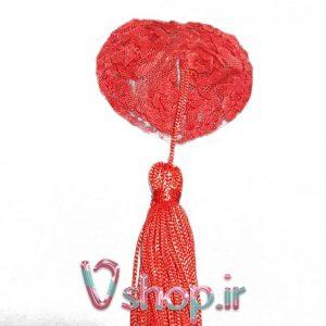نیپل قلب گل قرمز